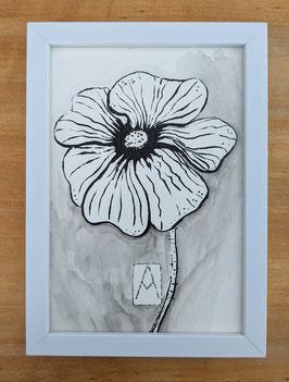 Flower in Tusche
