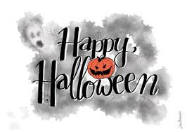 "Postkarte ""Happy Halloween"""""