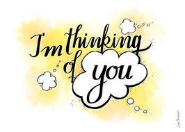 "Postkarte ""I´m thinking of you"""""