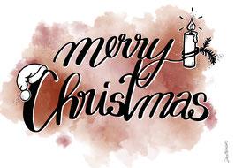 "Postkarte ""Merry Christmas"""""