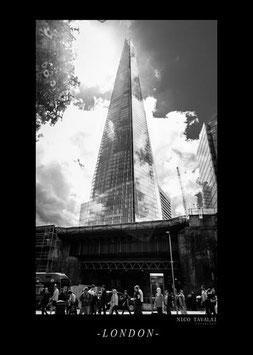 Londoner in schwarz-weiß