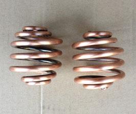 """Solo Seat Coil Spring , Copper , 2"""" & 3 """""""