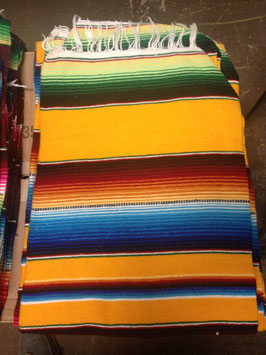 5' x 7' Mexican Serape Blanket Yellow