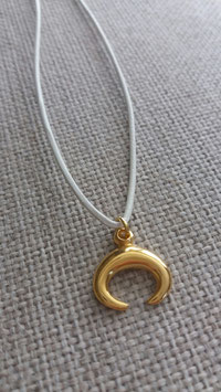 Lunula pendant necklace