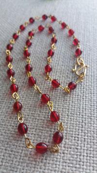 'Carbunculus' glass bead necklace
