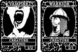 Black Double-Sided Creature Tokens
