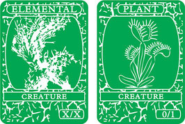 Green Double-Sided Creature Tokens