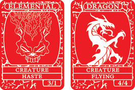 Red Double-Sided Creature Tokens