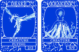 Blue Double-Sided Creature Tokens