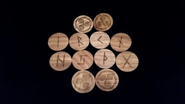 Wood Elder Futhark Runestone Set