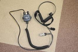 実物NEW EAGLE製ヘッドセット&PTTスイッチ 5pinコネクターセット(USED極上品)