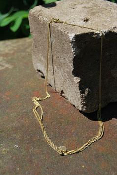 Halsnahe mehrreihige Golddoublé-Kette