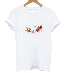T-Shirt Damen Simba Timon Pumba colorful