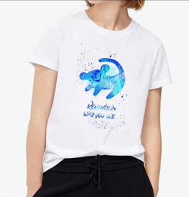 T-Shirt Damen  Simba blau