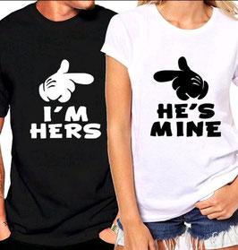 T-Shirt Hers/Mine Finger