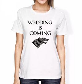 T-Shirt Damen WEDDING IS COMING