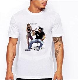 T-Shirt Fingernägel-Kauen