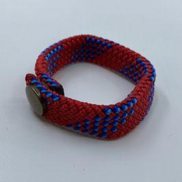Armband rot blau gestreift