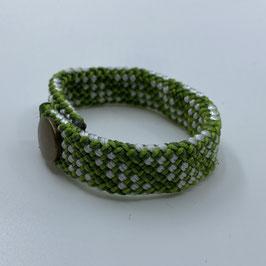 Armband grünweiss gestreift