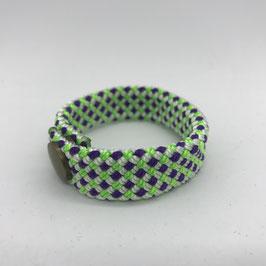 Armband violett/grün/weiss gemustert