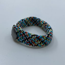 Armband hellblau/rot/schwarz/grün