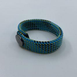 Armband türkis grau gestreift