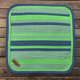 Sitzkissen grün/gemustert/violett