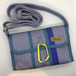 Shoulder Bag MINI violettgemustert