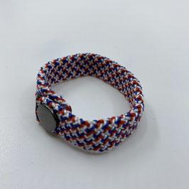 Armband rot blau weiss gemustert