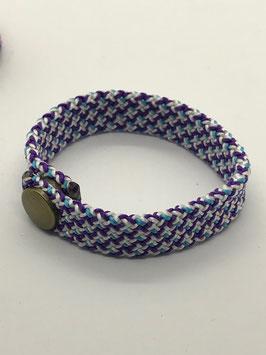 Armband violett gemustert