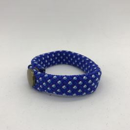 Armband dunkelblau gemustert