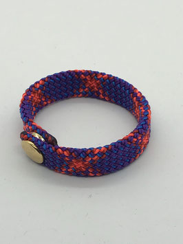 Armband dunkelviolett/orange