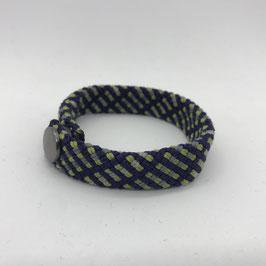 Armband blau/gelb/grau