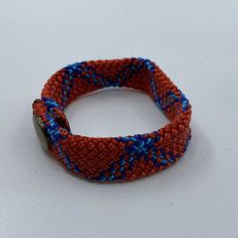 Armband rot blau gezackt