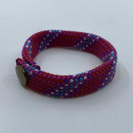 Armband pink gestreift hellblau