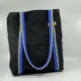 Shopping Bag  Jeans schwarz/blau