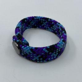Armband violett blau schwarz