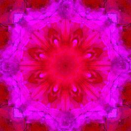"""Tuch """"Kaleidoskop1 rot-pink"""""""