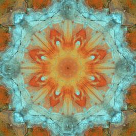 "Tuch ""Kaleidoskop1 türkis-orange"""