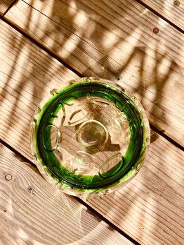 Cendrier en verre soufflé