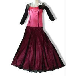 Abendkleid pink/schwarz Gr. 38 -S