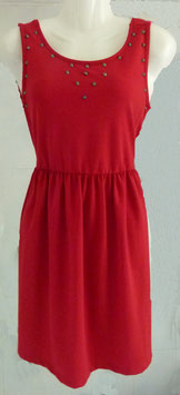 Trägerkleid Gr. S rot mit Nieten