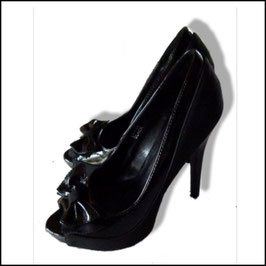 High Heels Peeptoes Gr.38 in schwarz