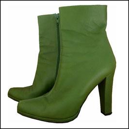 Leder-Stiefeletten High Heels grün LERRE