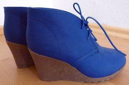 Keil-Stiefeletten Wedges blau