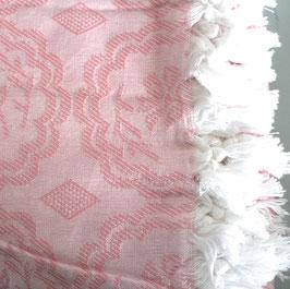 rosa Decke vintage 170 x 230