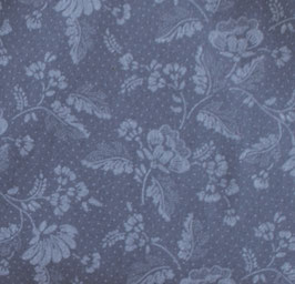 ozeanblaue Blumen allover Dirndlstoff