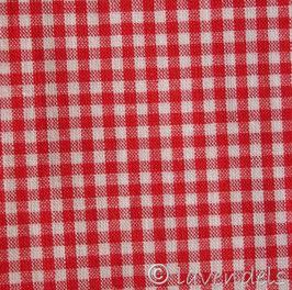 rot klein-kariert Baumwollstoff