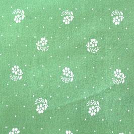 hellgrün Blüten & Punkte BW-Stoff