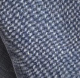 dunkelblau Leinen Chambray Ökotex
